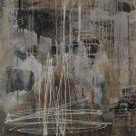 Abstrakte Malerei Bild 101 Keilrahmen 80x80x3,5cm