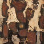Abstrakte Malerei Bild 104 Keilrahmen 60x60x1,8cm