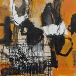 Abstrakte Malerei Bild 114 Keilrahmen 60x60x3,5cm