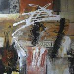Abstrakte Malerei Bild 123 Keilrahmen 60x60x3,5cm