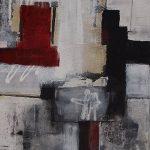 Abstrakte Malerei Bild 125 Keilrahmen 70x50x3,5cm