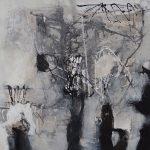 Abstrakte Malerei Bild 134 Keilrahmen 100x100x3,5cm