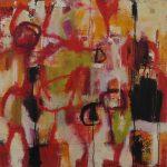 Abstrakte Malerei Bild 140 Keilrahmen 100x100x3,5cm