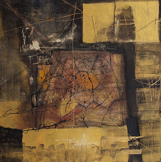 Abstrakte Malerei Bild 144 Keilrahmen 70x70x3,5cm