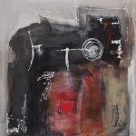 Abstrakte Malerei Bild 153 Keilrahmen 120x100x3,5cm