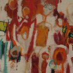 Abstrakte Malerei Bild 161Keilrahmen 100x100x3,5cm