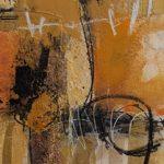 Abstrakte Malerei Bild 172 Keilrahmen 120x40x3,5cm