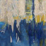 Abstrakte Malerei Bild 175 Brandung Keilrahmen 100x100x4cm