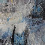 Abstrakte Malerei Bild 17 Keilrahmen 100x40x1,8cm