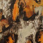 Abstrakte Malerei Bild 204 Keilrahmen 40x30x1,8cm