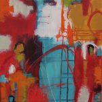 Abstrakte Malerei Bild 206 Keilrahmen 50x50x1,8cm