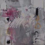 Abstrakte Malerei Bild 208 Keilrahmen 50x50x1,8cm
