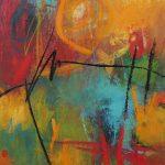 Abstrakte Malerei Bild 211 Keilrahmen 70x50x3,5cm