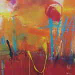 Abstrakte Malerei Bild 235 Keilrahmen 100x80x3,5cm