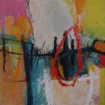 Abstrakte Malerei Bild 249 Keilrahmen 50x50x3cm