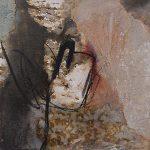 Abstrakte Malerei Bild 300 Keilrahmen 40x30x1,8cm