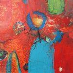 Abstrakte Malerei Bild 305 Keilrahmen 30x30x3cm