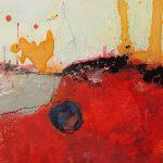Abstrakte Malerei Bild 306 Keilrahmen 30x30x3cm