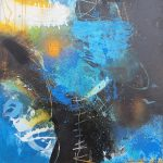 Abstrakte Malerei Bild 310 Keilrahmen 50x50x1,8cm