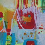 Abstrakte Malerei Bild 316 Keilrahmen 50x50x1,8cm