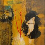 Abstrakte Malerei Bild 319 Keilrahmen 100x80x4cm