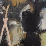Abstrakte Malerei Bild 63 Keilrahmen 50x40x1,8cm