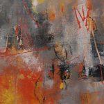Abstrakte Malerei Bild 68 Keilrahmen 80x70x1,8cm