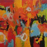 Abstrakte Malerei Bild 72 Keilrahmen 100x100x1,8cm