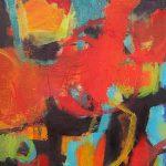 Abstrakte Malerei Bild 73 Keilrahmen 90x60x1,8cm