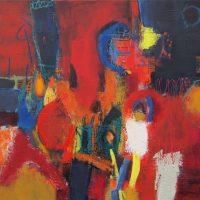 Abstrakte Malerei - Bild 131 - Keilrahmen 60x60x3,5cm