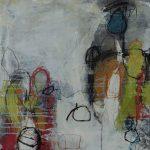 Abstrakte Malerei - Bild 209 - Keilrahmen 50x50x2cm