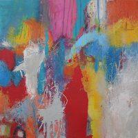 Abstrakte Malerei - Bild 274 - Keilrahmen 50x50x3cm