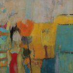 Abstrakte Malerei-Bild 278-Keilrahmen 120x120x4cm