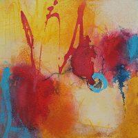 Abstrakte Malerei - Bild 279 - Keilrahmen 30x30x3cm