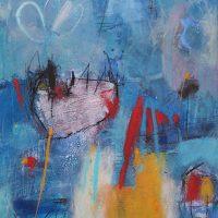 Abstrakte Malerei - Bild 289 - Keilrahmen 100x80x4cm