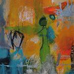 Abstrakte Malerei - Bild 298 - Keilrahmen 80x60x4cm