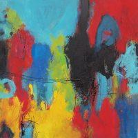 Abstrakte Malerei Bild 41 Keilrahmen 80x80x1,8cm
