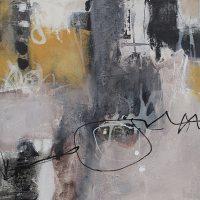 Abstrakte Malerei - Bild 230 - Keilrahmen 50x50x1,8cm,8cm