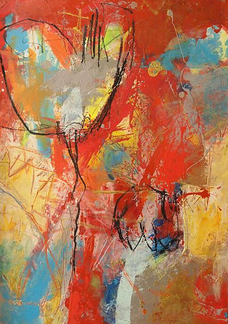 Abstrakte Malerei Bild M6 Finnpappe 70x50cm