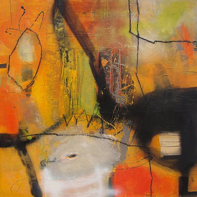 Abstrakte Malerei Bild 102 Keilrahmen 80x80x3,5cm