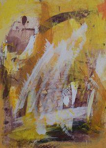 Abstrakte Malerei Bild M10 Malpappe 70x50cm