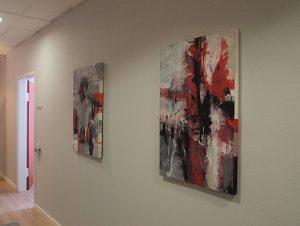 Abstrakte Malerei von Iis Rickart