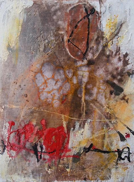 Abstrakte Bilder Enkaustik