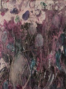 Abstrakte Enkaustik E16 auf Malplatte