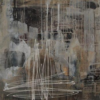 Abstrakte Malerei Bild 101 Keilrahmen 80x80x35,5cm