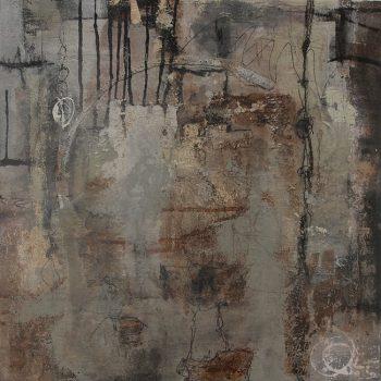 Abstrakte Malerei Bild 77 Keilrahmen 60x60x1,5cm