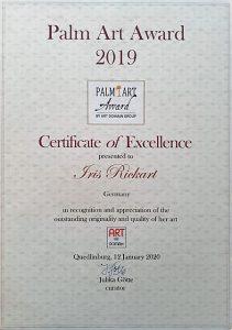 PalmArtAward2019CertificateofExcellence