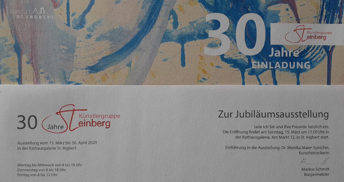 Abstrakte Malerei bei Ausstellung 30 Jahre Künstlergruppe Steinberg