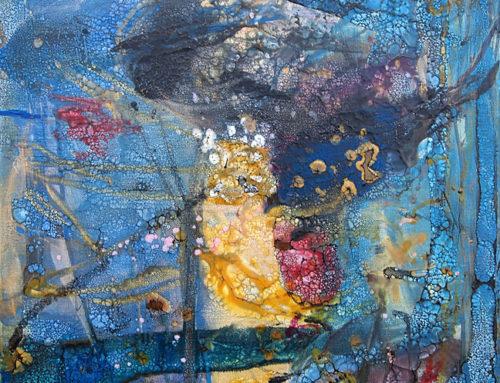 Abstrakte Malerei Enkaustik 354