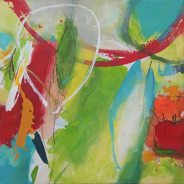 Abstrakte Malerei Bild 288 KR 50x50x1,8 cm
